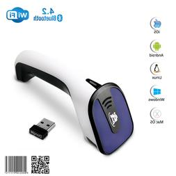 1D/2D Wireless Bluetooth Barcode Scanner: 3-in-1 Handheld, U