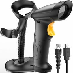 Inateck 1D USB Barcode Scanner with Intelligent Stand Wired,