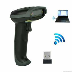 2.4GHz USB WIFI Wireless Barcode Scanner Reader Visible Hand
