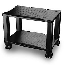 Printer Stand 2 Tiers Shelf Short Table Office Rolling Mobil
