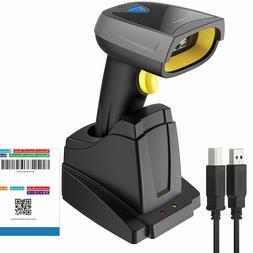 Inateck 2D Barcode Scanner Wireless, Bluetooth, QR Code Scan