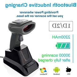 LS-PRO 2D QR wireless Bluetooth Barcode Scanner with USB Cra