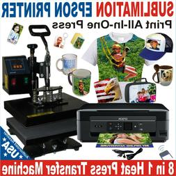 8 in 1 HEAT PRESS TRANSFER SUBLIMATION COMBO COMPLETE PACK P