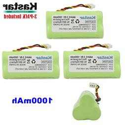 Kastar 3-PACK AAA 3.6V 1000mAh Ni-MH Rechargeable Battery Re