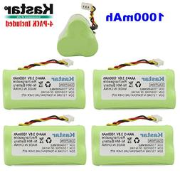 Kastar 4-PACK AAA 3.6V 1000mAh Ni-MH Rechargeable Battery Re