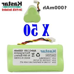 Kastar 50-PACK AAA 3.6V 1000mAh Ni-MH Rechargeable Battery R