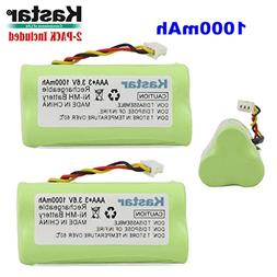 Kastar 2-PACK AAA 3.6V 1000mAh Ni-MH Rechargeable Battery Re
