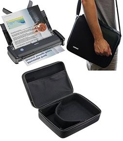 Navitech Black Hard A4 Portable / Mobile Scanner Carry Case