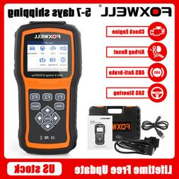 Car ABS Airbag SRS SAS Reset OBD2 Code Reader Engine Check D