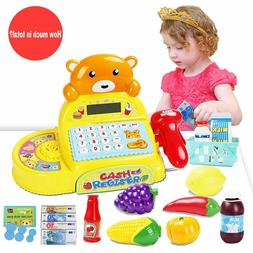 Cash Register Toy Math Learning Electronic Calculator with S