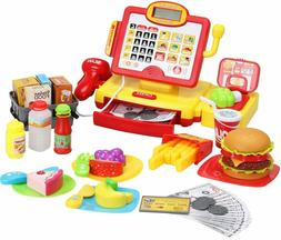 FS Toys Pretend Play Calculator Cash Register with Real Scan