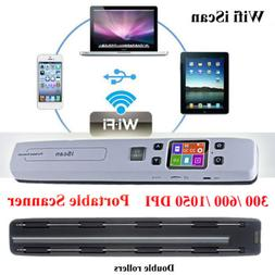 Hi-Speed Wifi iScan Portable A4 Scanner for Document Photo R