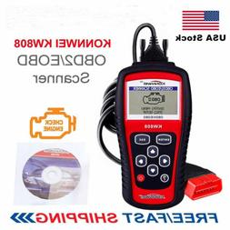 KW808 OBDII Code Reader Scanner Check Engine Light O2 Sensor