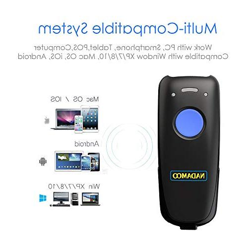 NADAMOO Scanner, Compatible Function & & Connection, Connect Smart CCD Code Reader Work Mac,Android, iOS