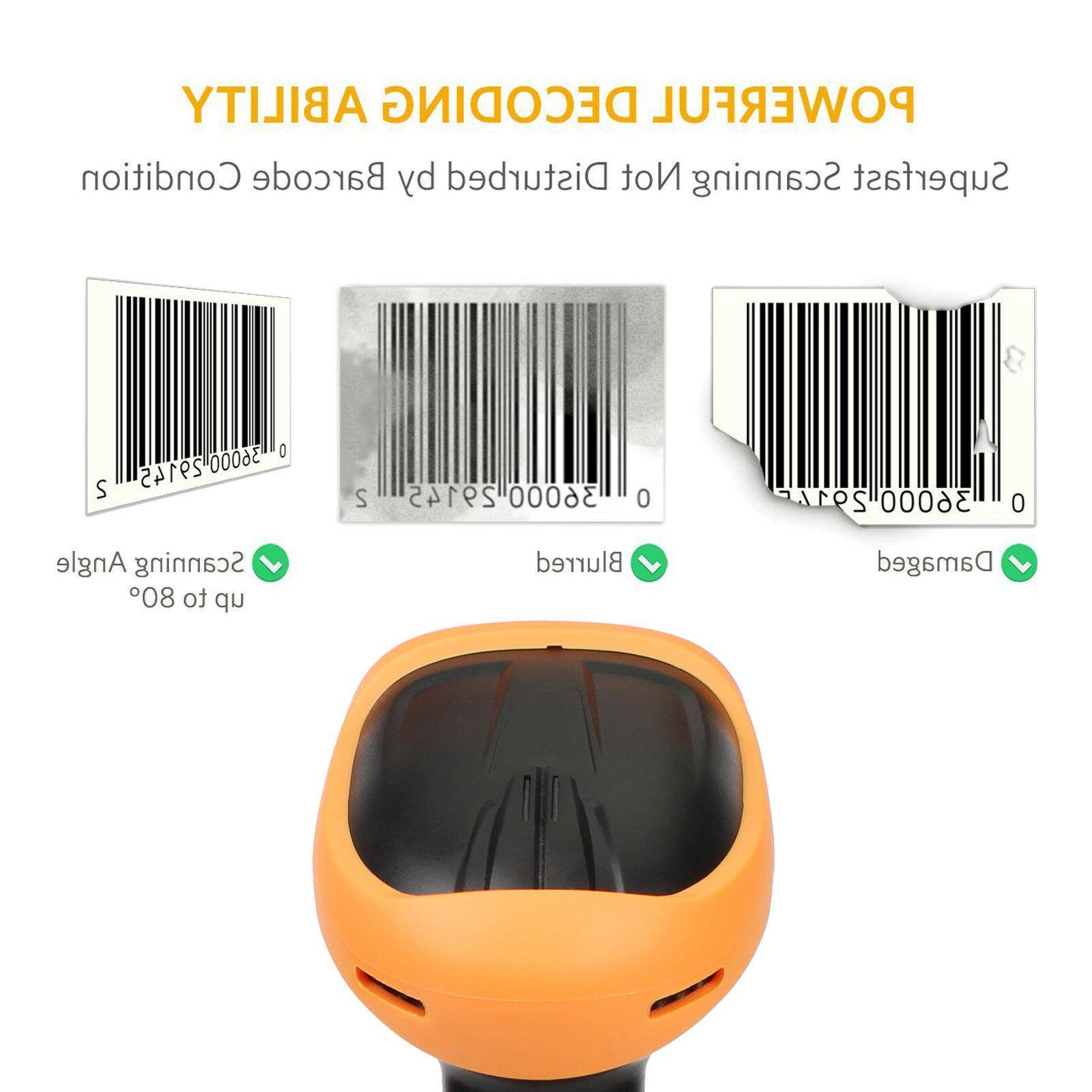 Portable Laser Barcode Reader Bar Scan USB Cable for POS