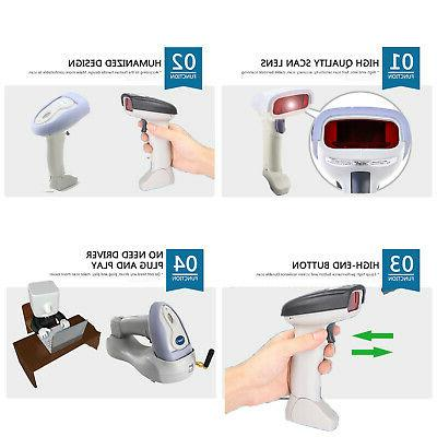 2.4GHz USB Wireless Barcode Handheld Lase Cordless