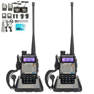 2 x Baofeng UV-5XP 8W Walkie Talkie UHF VHF FM Two Way Radio