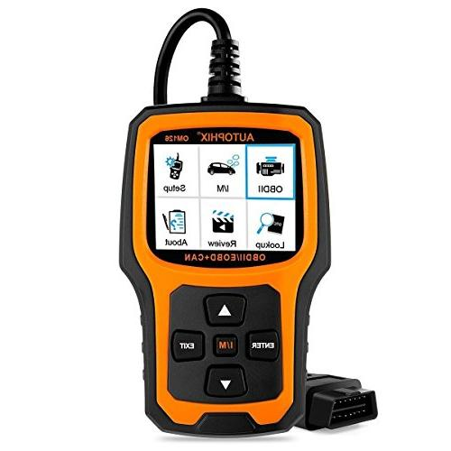 Autophix Code Reader OM126 OBDII OBD2 Scanner Car Engine Fau