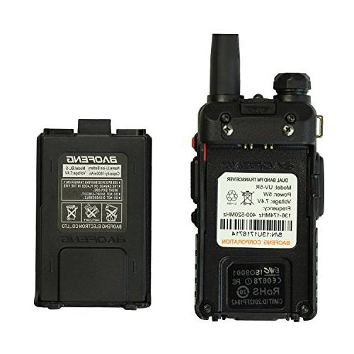 Baofeng UV-6R Two-Way Radio Transceiver High FM