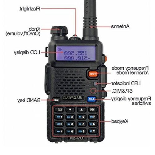 Baofeng Pofung UV-6R Two-Way 136-174/400-520MHz High FM Radio