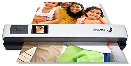 """ClearClick Photo & Document Scanner with 1.45"""" Preview LCD,"""