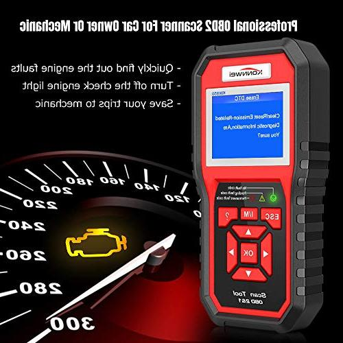 KONNWEI KW850 Professional OBD2 Scanner Auto Code Reader Diagnostic Check Engine Light Scan Tool