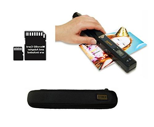 VuPoint Magic Wand Portable Scanner with Carrying Case & 8GB