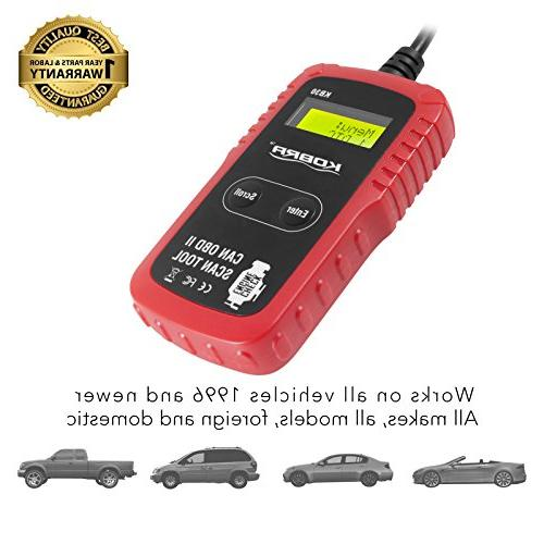 OBD2 OBD Diagnostic Car Scanner Tool and Car Code One Check Engine Light Reset, Problems Clear Trouble Codes All Cars and Trucks!