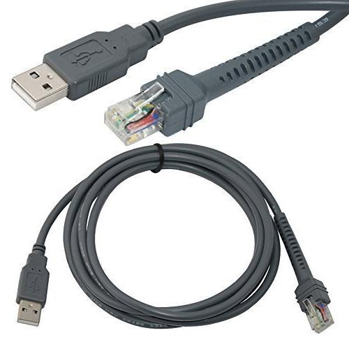 USB Cable 7ft 2M for Symbol Barcode Scanner LS1203 LS2208 LS