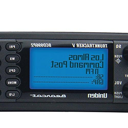 Uniden BCD996P2 TrunkTracker Scanner, Dynamically Call RF Capture 4-Line display, Design, 2, Location-Based Scanning