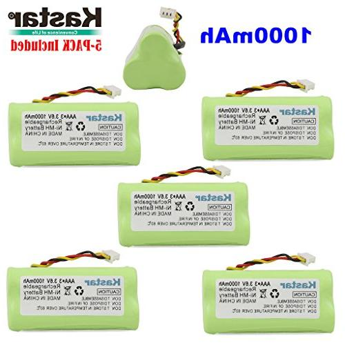 Kastar 5-PACK AAA 1000mAh Rechargeable Replacement for 82-67705-01 BTRY-LS42RAAOE-01 DS-6878 Laser Barcode