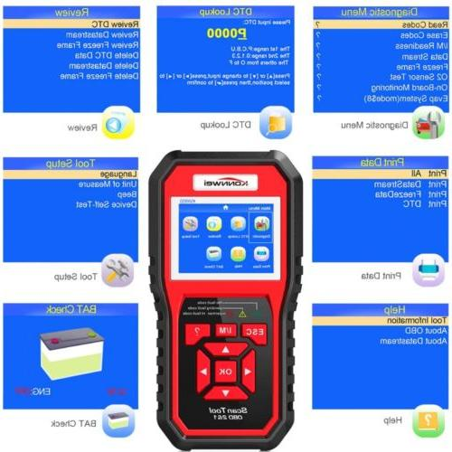 Automotive Code Scanner Engine Check OBD2 Diagnostic Tool