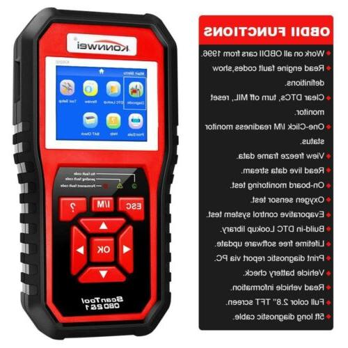 automotive code reader scanner engine light check