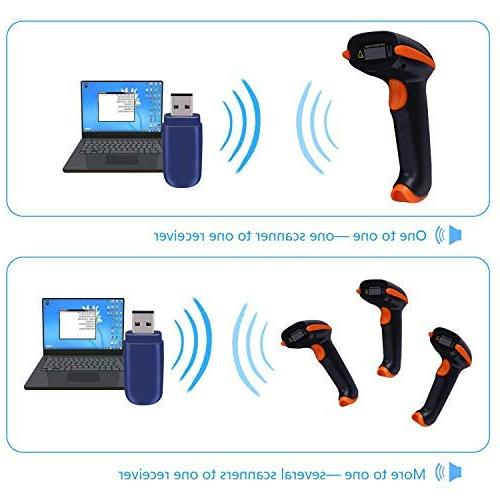 Tera Scanner Versatile 1D Barcode USB Handheld with Stand
