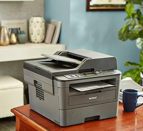 Brother Monochrome Compact Printer and Copier, DCPL2550DW, Duplex Printing, Mobile 50-Sheet Dash Replenishment Enabled
