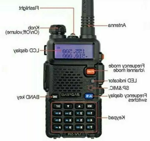 Digital Handheld Radio Fire Police EMS Ham 2 Way Transceiver Dual