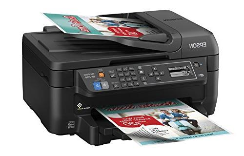 Epson Wireless Color Printer with Scanner, Copier Fax, Dash Enabled