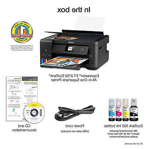 Epson Wireless Color Printer with Scanner Copier