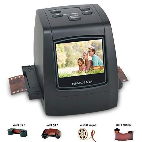 Slides Impressive 128MB Built-in Memory DIGITNOW Film Scanner with 22MP Converts 126KPK//135//110//Super 8 Films Negatives All in One into Digital Photos,2.4 LCD Screen