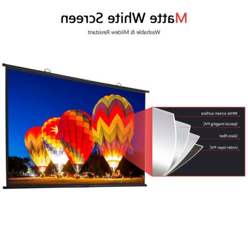 "120"" Diagonal Projector Screen Wall Mount"