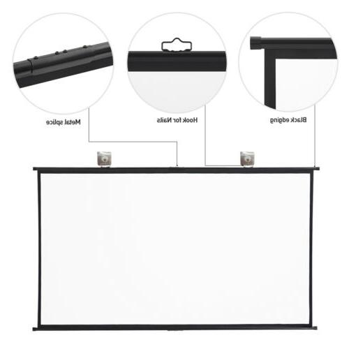 "120"" 16:9 Projection Projector HD Wall Mount"