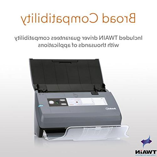 Ambir ImageScan High-Speed Duplex Document ID Scanner with Document and Pages per Minute
