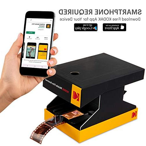 KODAK Mobile – Scan & Save Old 35mm Films Slides w/Your Smartphone – Portable, w/Built-in Light Free Mobile App Scanning, Editing Sharing Photos