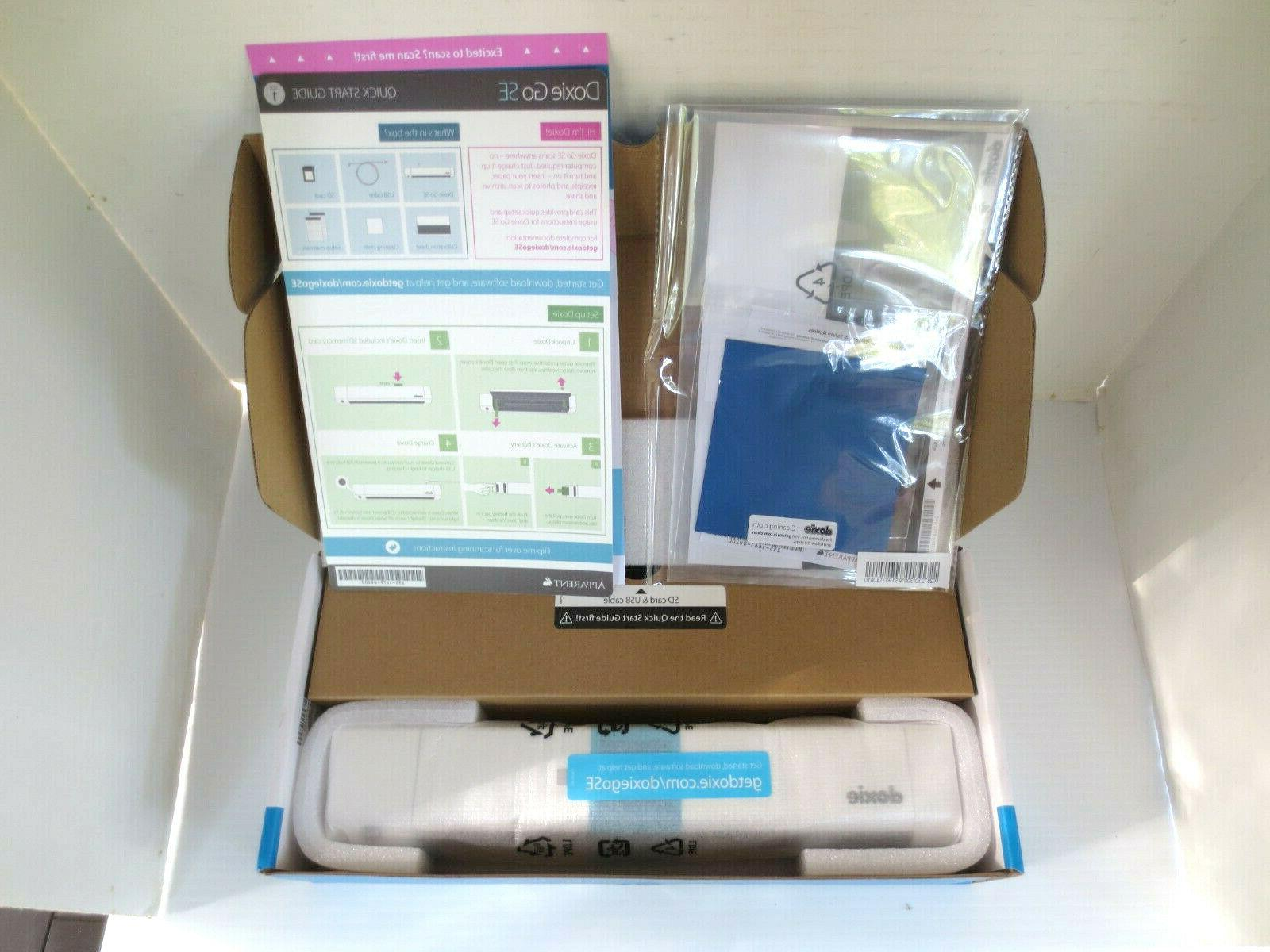 New Box - Doxie Go SE The Intuitive Portable Scanner Rechargeable