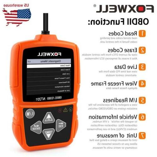 Foxwell NT201 OBD2 Reader Engine Tester