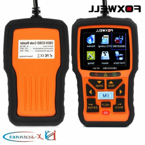 FOXWELL NT301 Live Reader DTCs