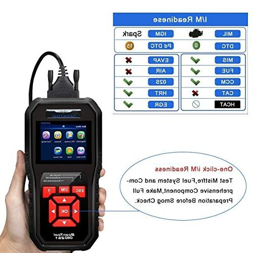 SEEKONE Scanner Car OBD Auto Fault Code Reader Automotive Check Engine Light Diagnostic Tool for Protocol Cars