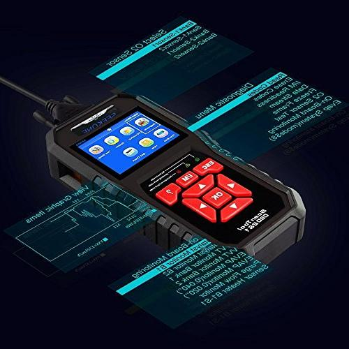 SEEKONE OBD2 Scanner Car Auto Fault Reader Automotive Check Light Tool for Protocol