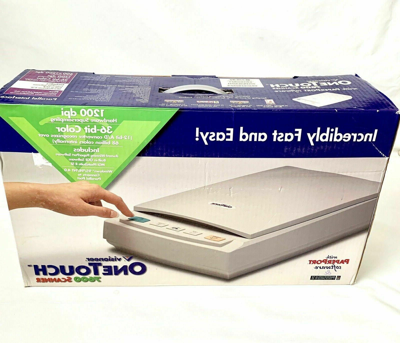 one touch 7600 usb scanner 1200 dpi
