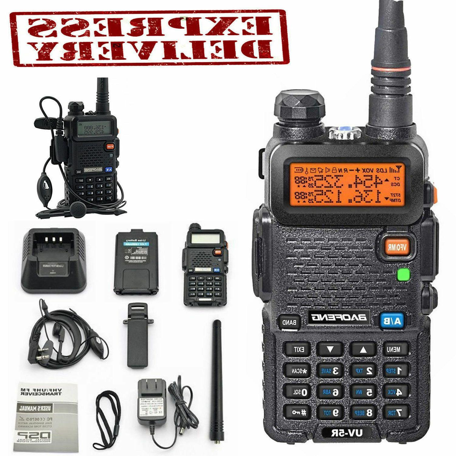 Police Fire Radio Two Way Scanner Transceiver Handheld Porta